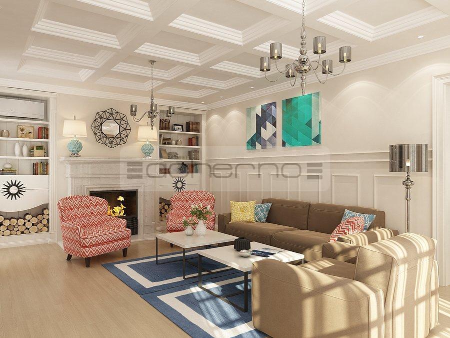 Еклектичен вътрешен дизайн на къща
